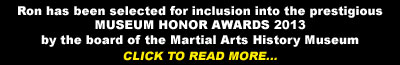 Martial Arts History Museum Awards 2013